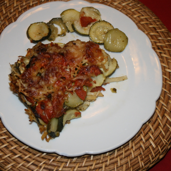 TIAN  COURGETTE  TOMATE  « Façon Ginette »